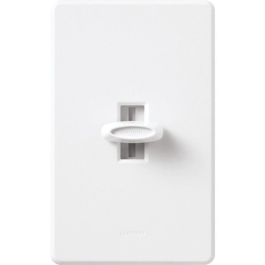 Lutron Glyder 600-Watt Single Pole White Indoor Slide Dimmer