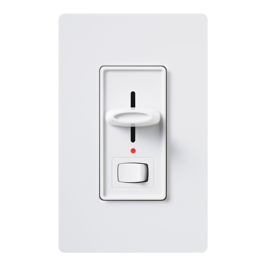 shop lutron skylark 600 watt single pole 3 way white indoor dimmer at. Black Bedroom Furniture Sets. Home Design Ideas