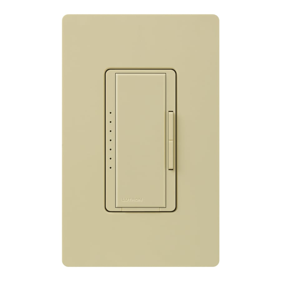 Lutron Maestro 600-Watt Single Pole Ivory Indoor Touch Dimmer