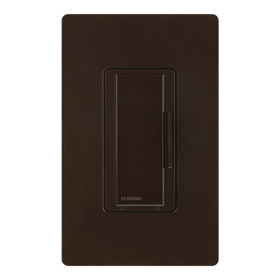 Lutron Maestro 600-watt Single Pole Brown Touch Indoor Dimmer