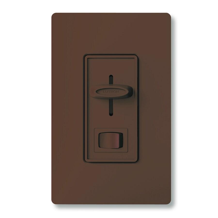 Lutron Skylark 450-Watt Single Pole 3-Way Brown Indoor Dimmer