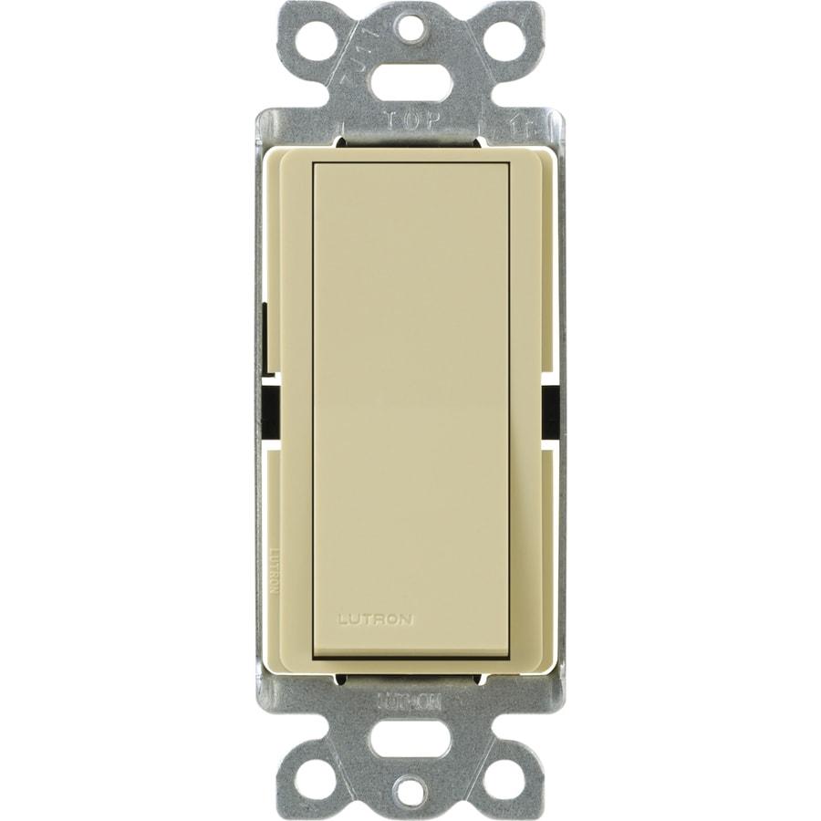 Lutron 15-Amp Ivory 4-Way Decorator Light Switch