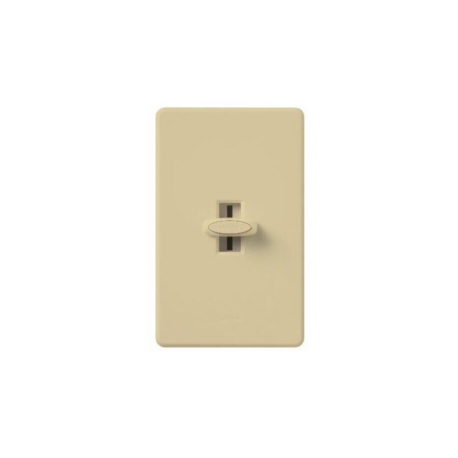Lutron Glyder 1,000-Watt Single Pole 3-Way Ivory Indoor Slide Dimmer