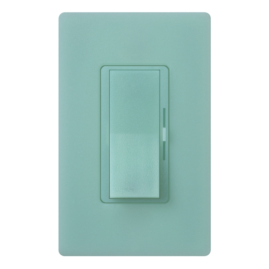 Lutron Diva 800-Watt Single Pole Sea Glass Indoor Dimmer