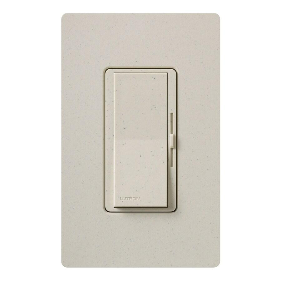 Lutron Diva 800-Watt Single Pole Limestone Indoor Dimmer