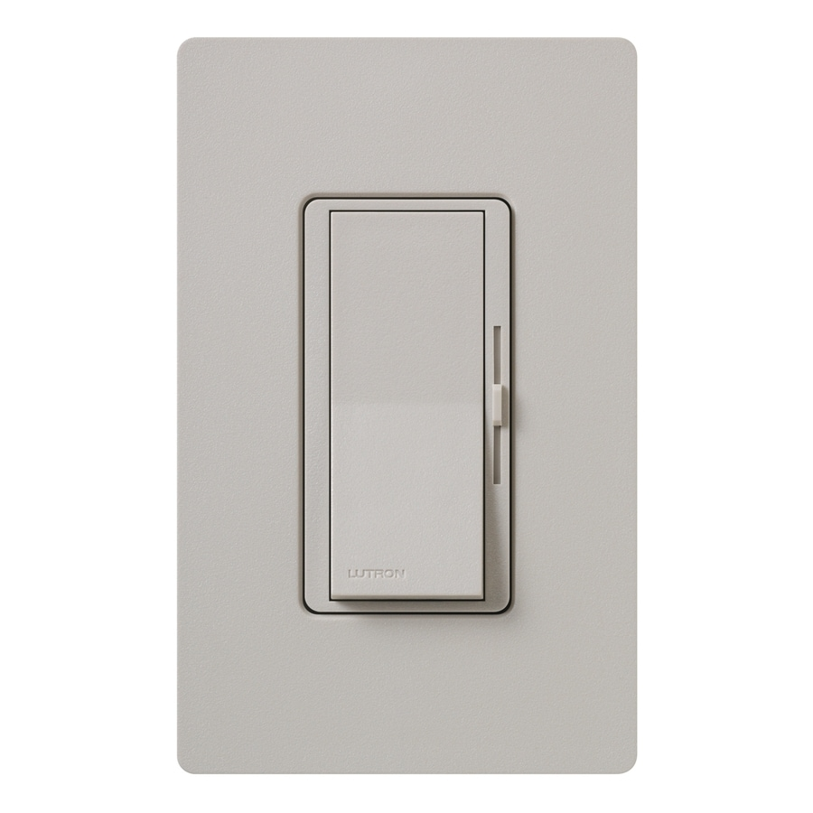 Lutron Diva 800-Watt Single Pole Taupe Indoor Dimmer