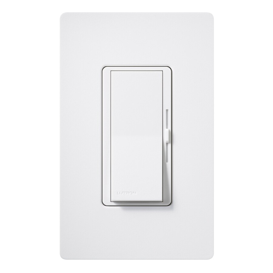 Lutron Diva 800-Watt Single Pole Snow Indoor Dimmer