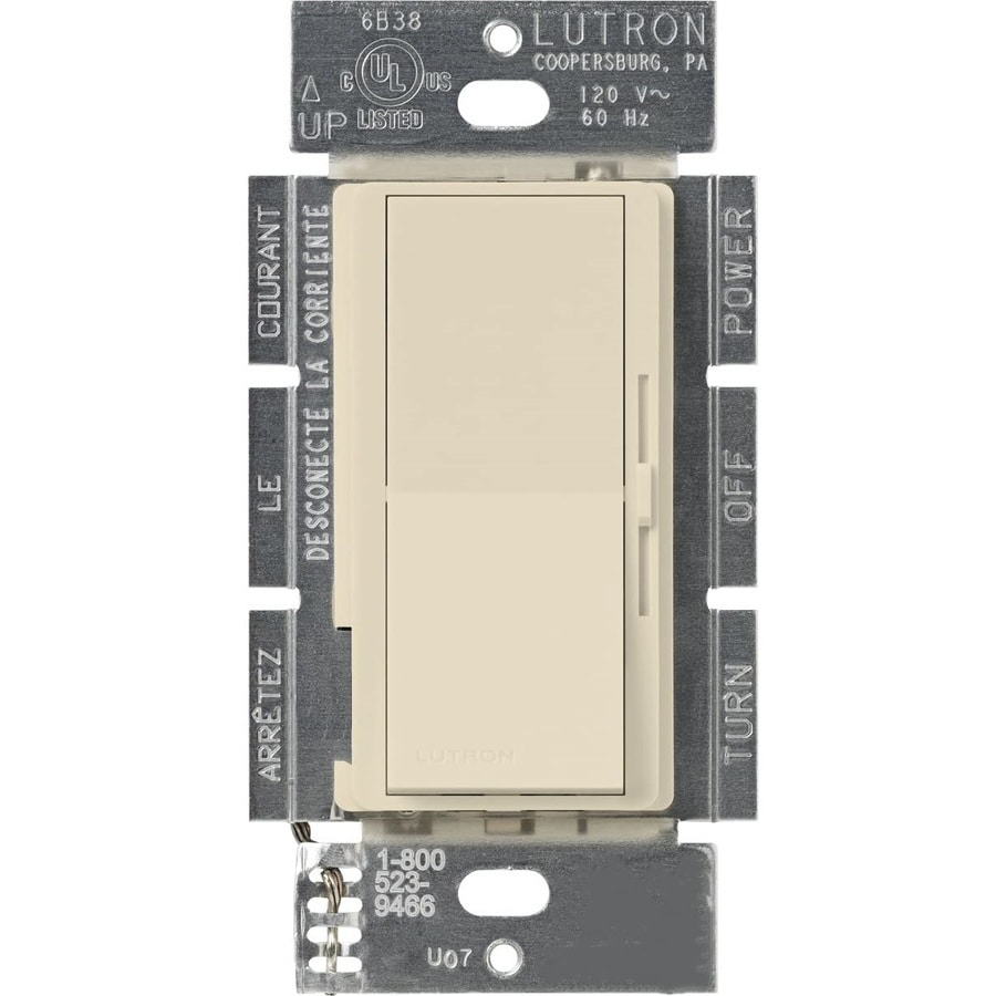Lutron Diva 450-Watt Single Pole 3-Way Eggshell Indoor Dimmer