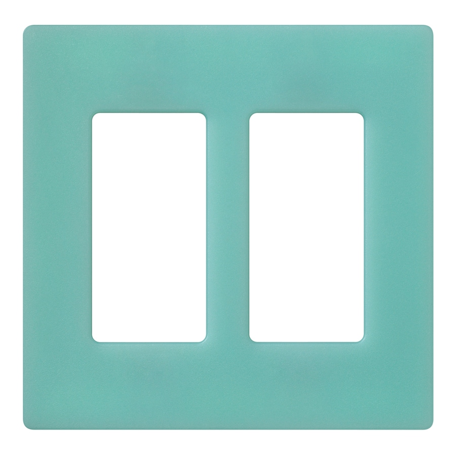 Lutron Claro 2-Gang Sea Glass Double Decorator Wall Plate