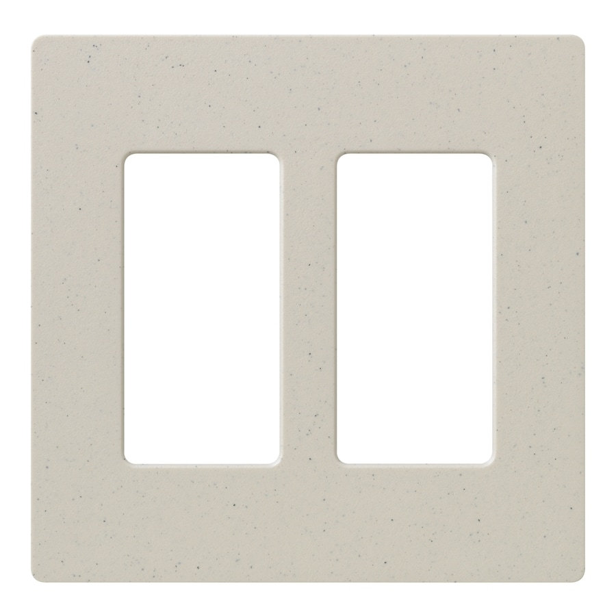Lutron Claro 2-Gang Limestone Double Decorator Wall Plate