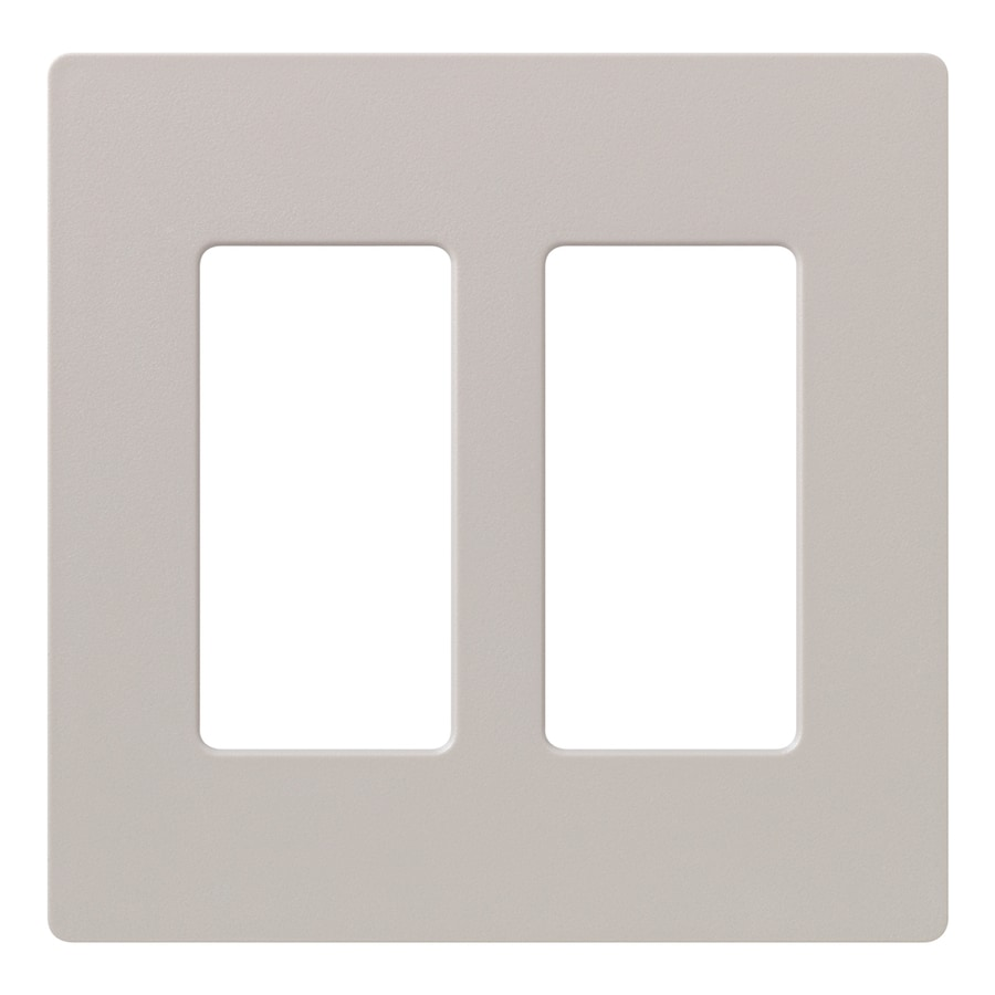Lutron Claro 2-Gang Taupe Double Decorator Wall Plate
