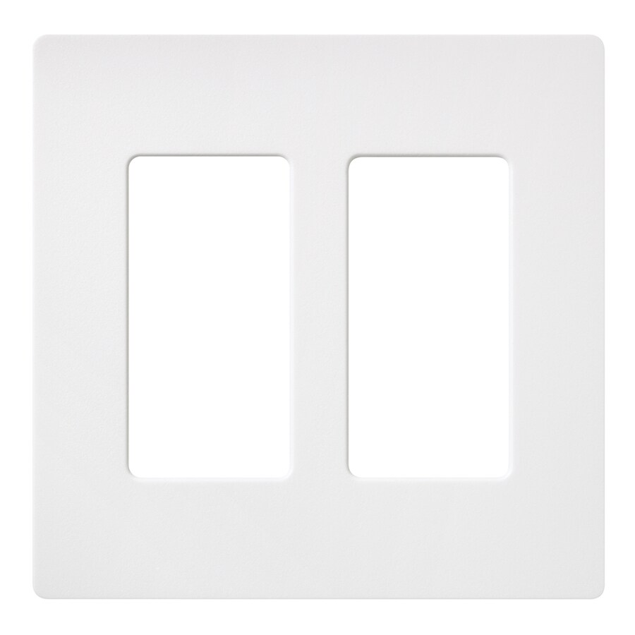 Lutron Claro 2-Gang Snow Double Decorator Wall Plate