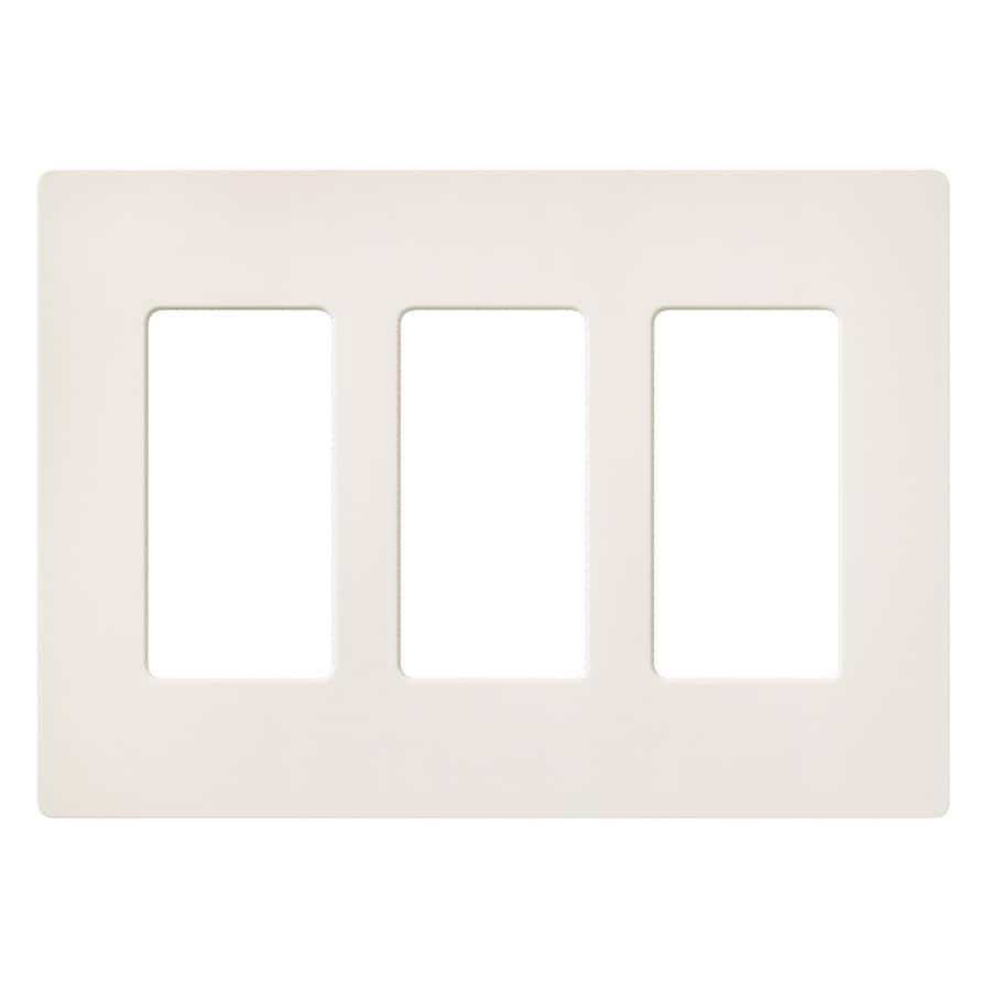 Lutron Claro 3-Gang Biscuit Triple Decorator Wall Plate