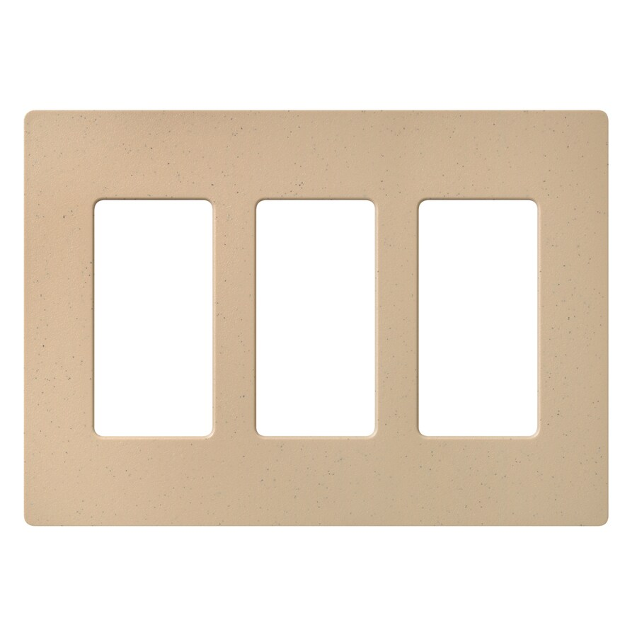 Lutron Claro 3-Gang Desert Stone Triple Decorator Wall Plate