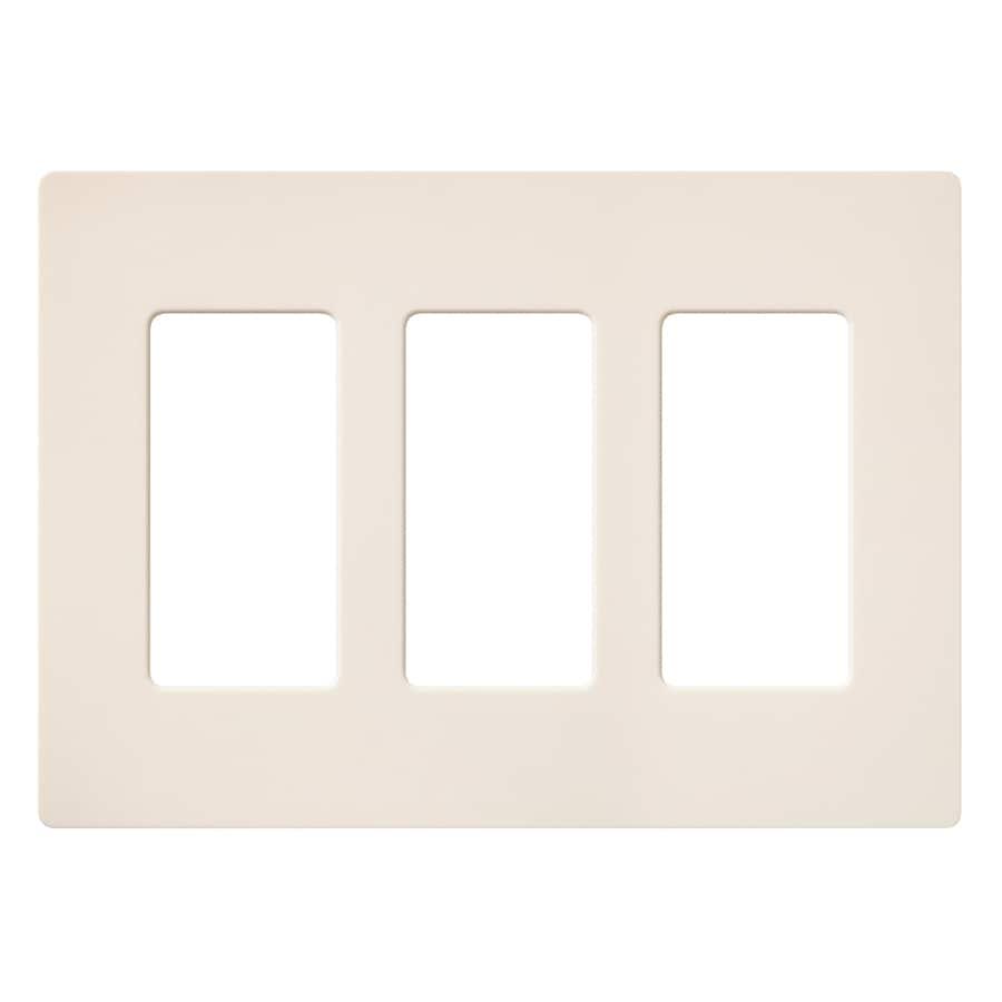 Lutron Claro 3-Gang Eggshell Triple Decorator Wall Plate