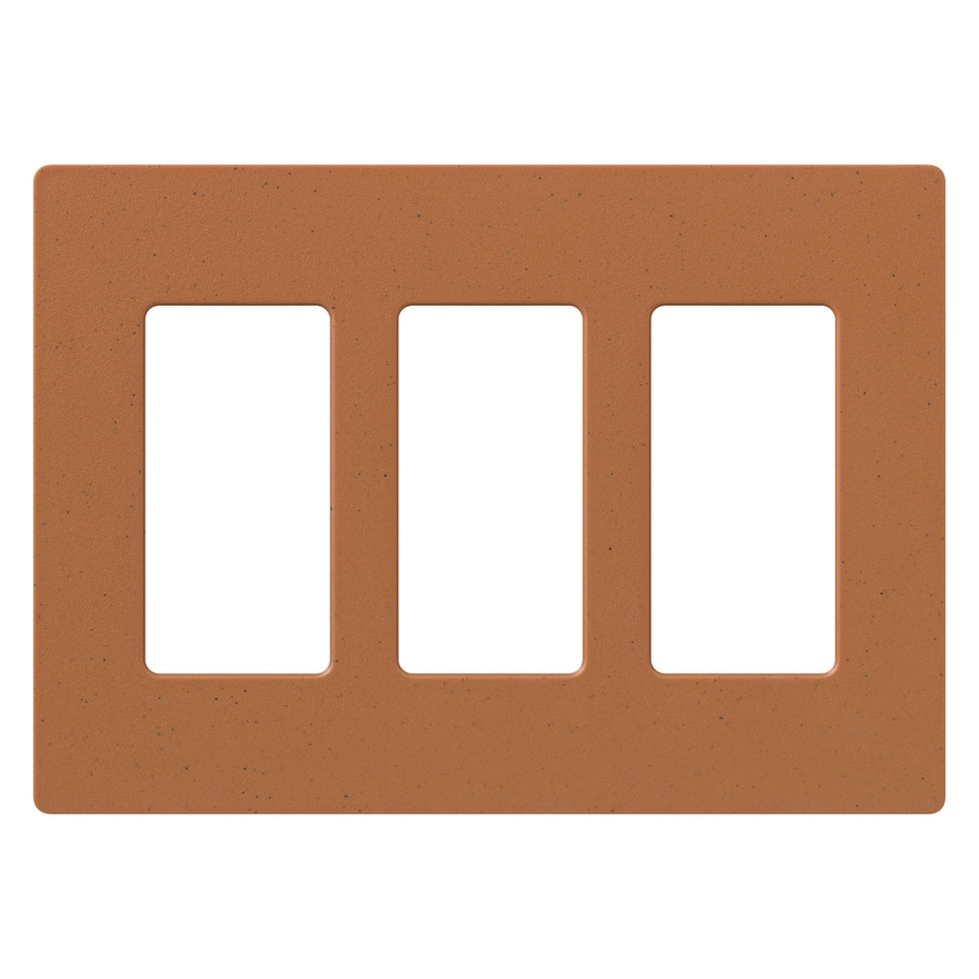 Lutron Claro 3-Gang Terra Cotta Triple Decorator Wall Plate