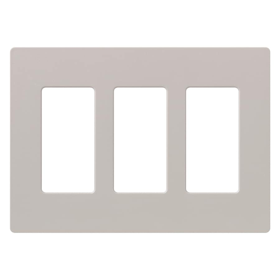 Lutron Claro 3-Gang Taupe Triple Decorator Wall Plate
