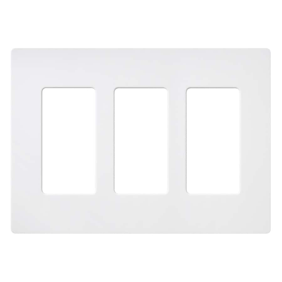 Lutron Claro 3-Gang Snow Triple Decorator Wall Plate