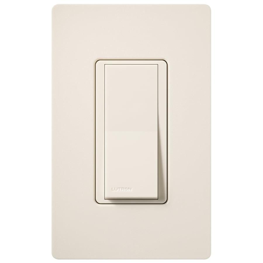 Lutron Claro 15-Amp Double Pole 3-Way Eggshell Indoor Push Light Switch