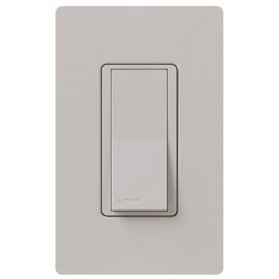 Lutron Claro 15-Amp Double Pole 3-Way Taupe Indoor Push Light Switch
