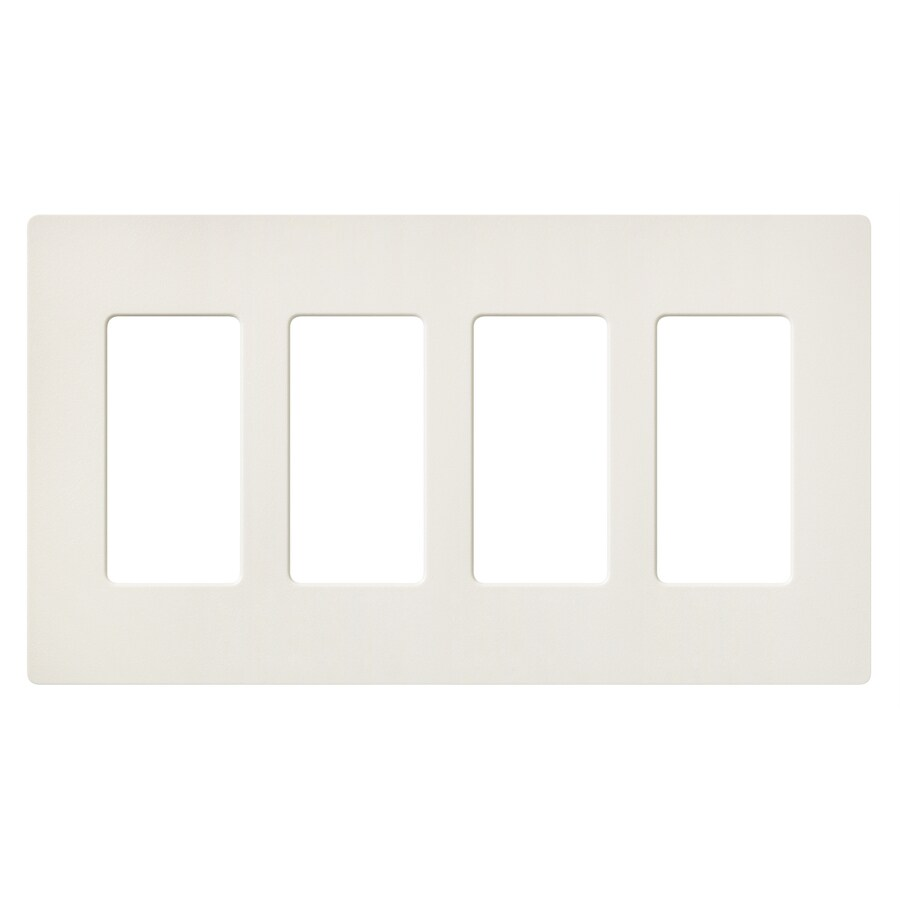 Lutron Claro 4-Gang Biscuit Quad Decorator Wall Plate