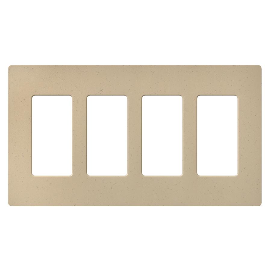 Lutron Claro 4-Gang Desert Stone Quad Decorator Wall Plate