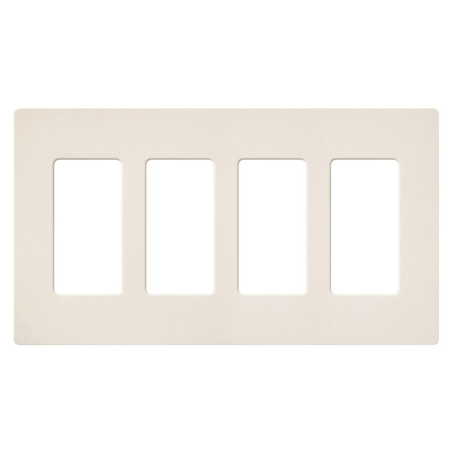 Lutron Claro 4-Gang Eggshell Quad Decorator Wall Plate