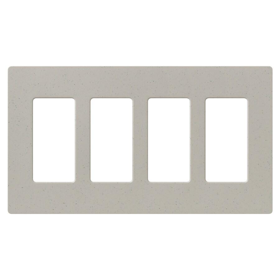 Lutron Claro 4-Gang Stone Quad Decorator Wall Plate