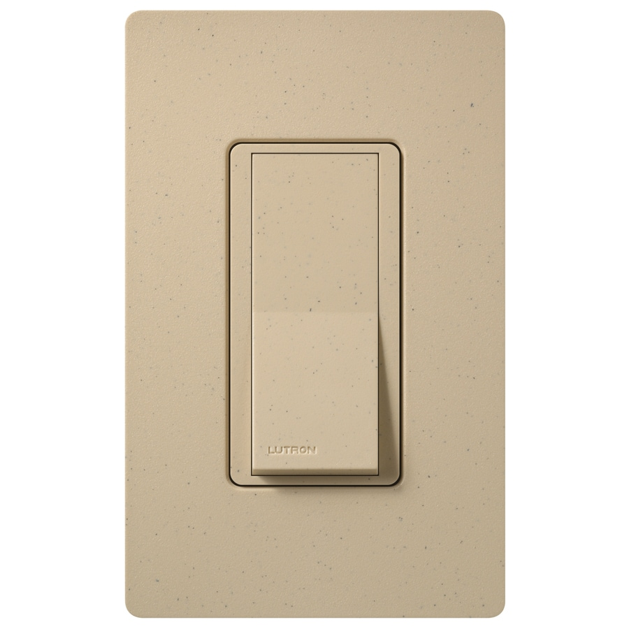 Lutron Claro 15-Amp 4-Way Desert Stone Indoor Push Light Switch