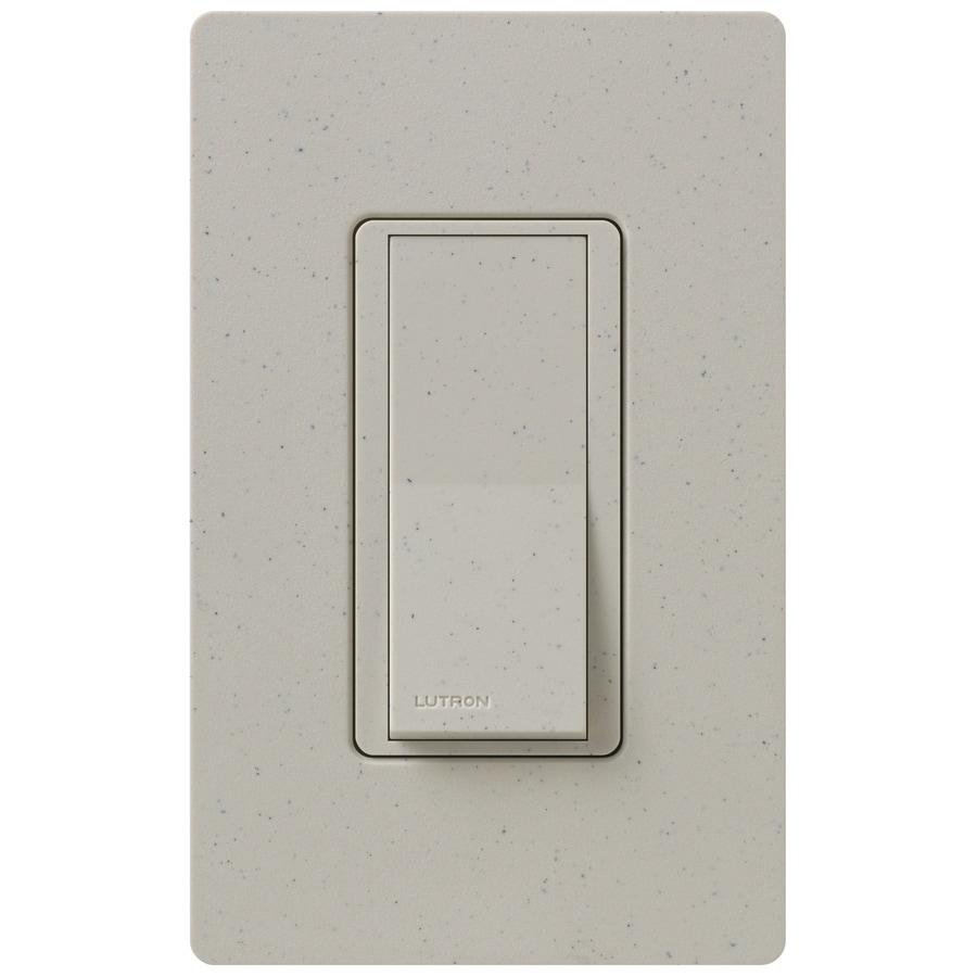 Lutron Claro 15-Amp 4-Way Stone Indoor Push Light Switch