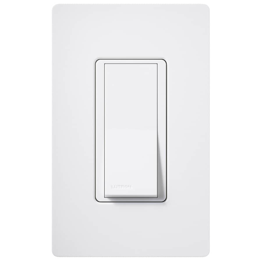 Lutron Claro 15-amp 4-way Snow Push Indoor Light Switch