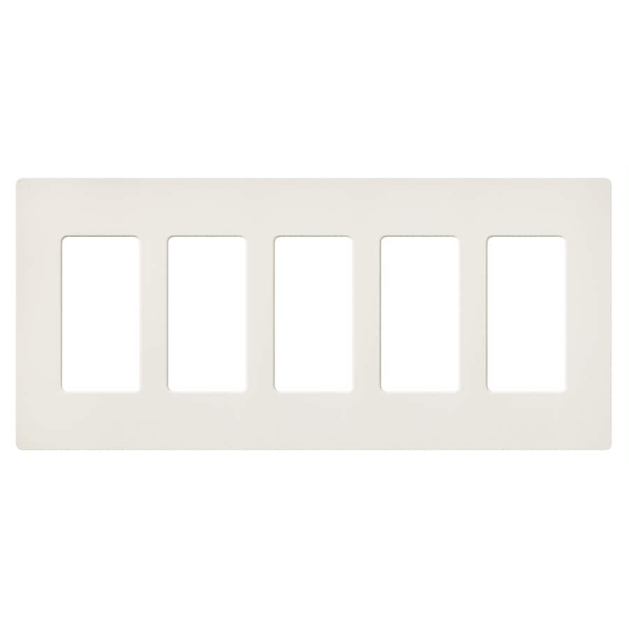 Lutron Claro 5-Gang Biscuit Five Decorator Wall Plate