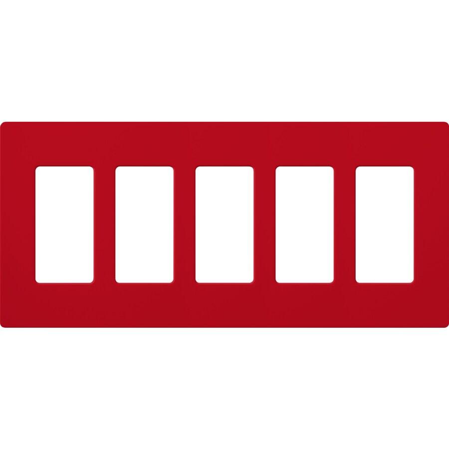 Lutron Claro 5-Gang Hot Five Decorator Wall Plate