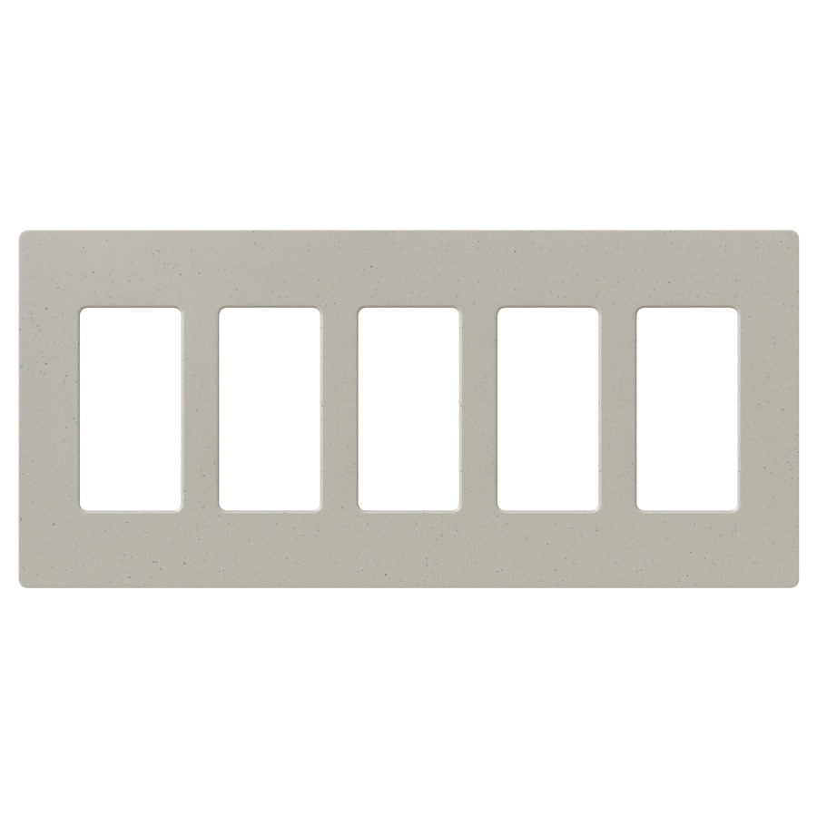 Lutron Claro 5-Gang Stone Five Decorator Wall Plate