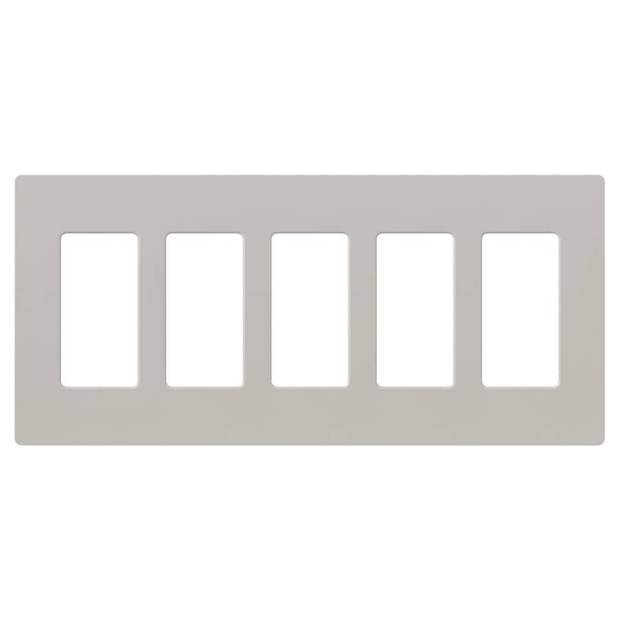 Shop lutron claro 5 gang taupe five decorator wall plate at - Gang grijze taupe ...
