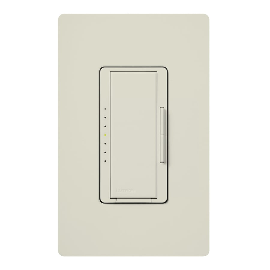Lutron Maestro 600-watt Single Pole Light almond Touch Indoor Dimmer