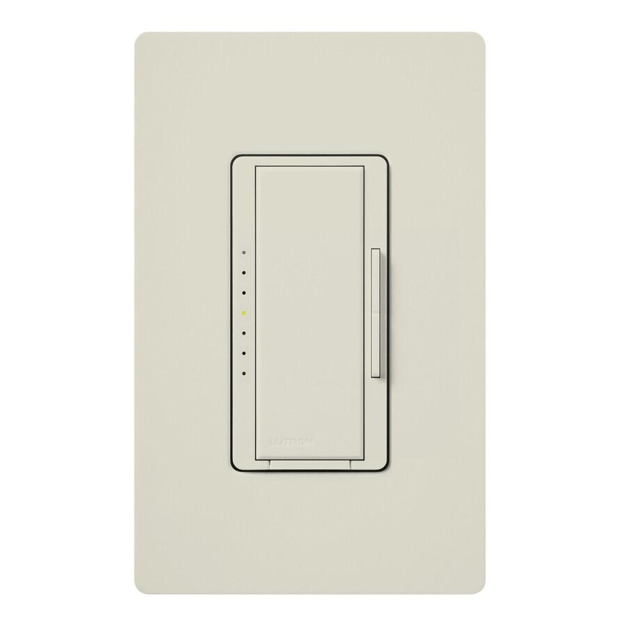 Lutron Maestro 800-Watt Single Pole Light Almond Indoor Touch Dimmer