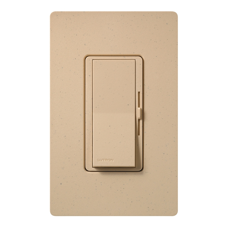 Lutron Diva 600-Watt Single Pole Desert Stone Indoor Dimmer