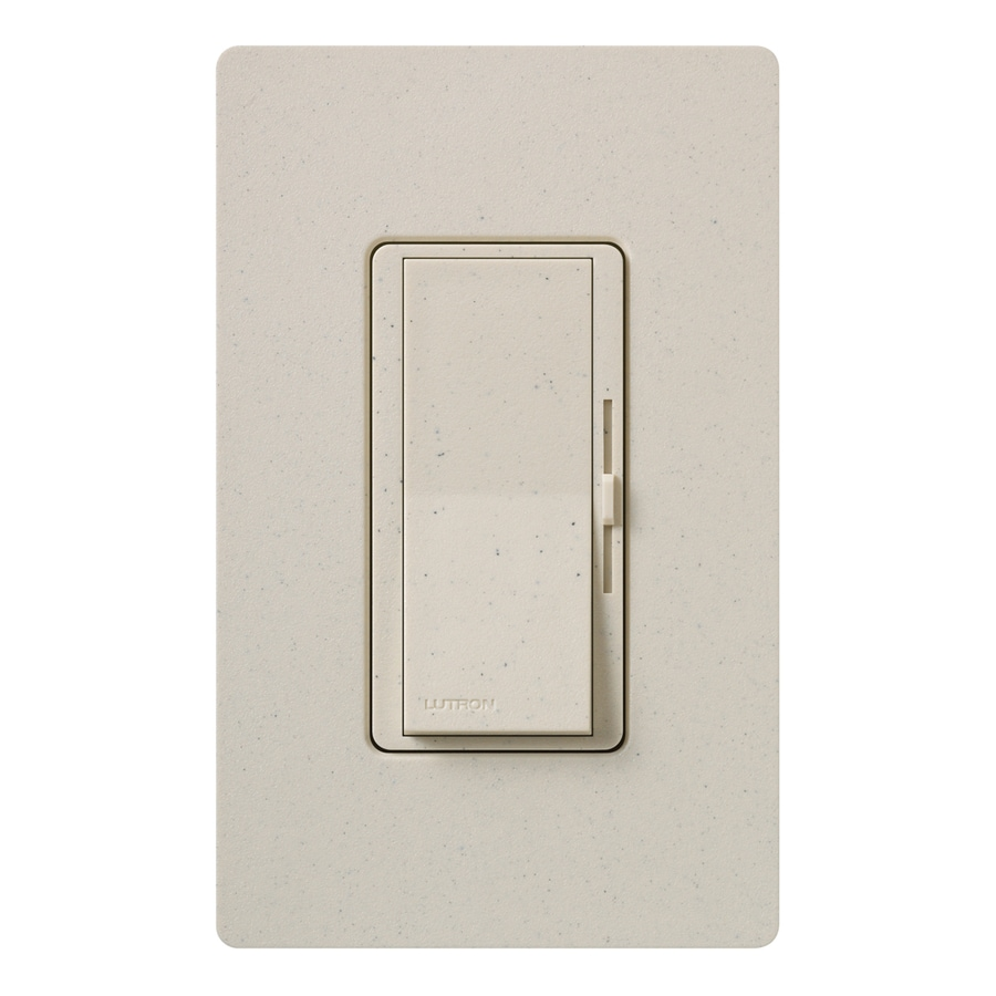 Lutron Diva 600-Watt Single Pole Limestone Indoor Dimmer