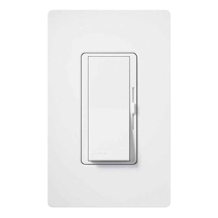 Lutron Diva 600-Watt Single Pole Snow Indoor Dimmer