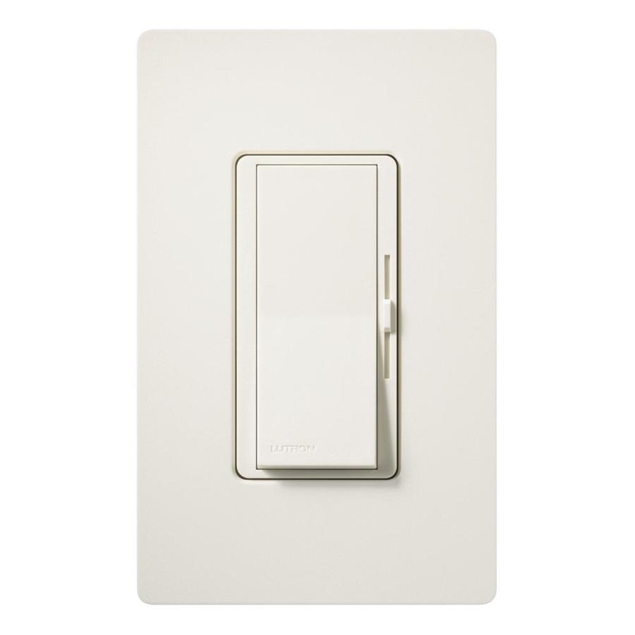 Lutron Diva 600-Watt Single Pole 3-Way Biscuit Indoor Dimmer