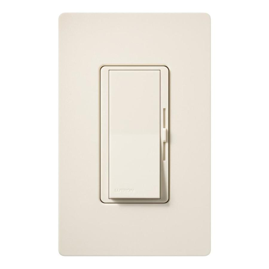 Lutron Diva 600-watt Single Pole 3-way Eggshell Indoor Dimmer