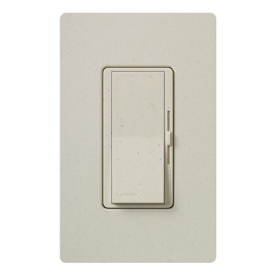 Lutron Diva 600-Watt Single Pole 3-Way Limestone Indoor Dimmer