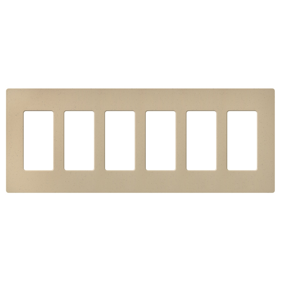 Lutron Claro 6-Gang Desert Stone Six Decorator Wall Plate