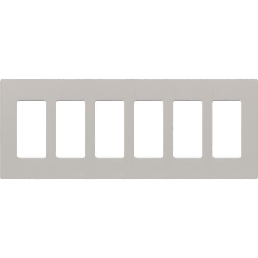 Lutron Claro 6-Gang Taupe Six Decorator Wall Plate