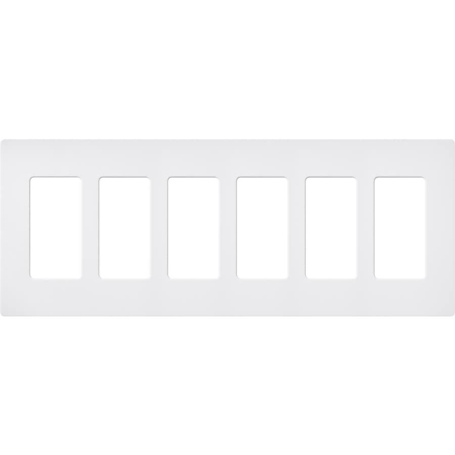 Lutron Claro 6-Gang Snow Six Decorator Wall Plate
