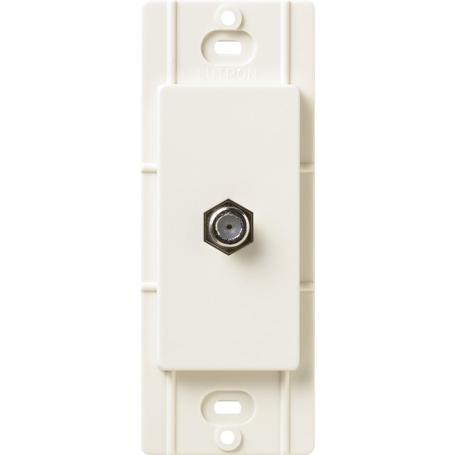 Lutron Claro Satin Color 1-Gang Biscuit Coaxial Wall Plate