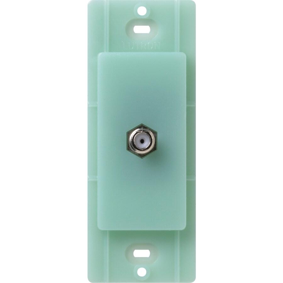 Lutron Claro Satin Color 1-Gang Sea Glass Coax Plastic Wall Plate