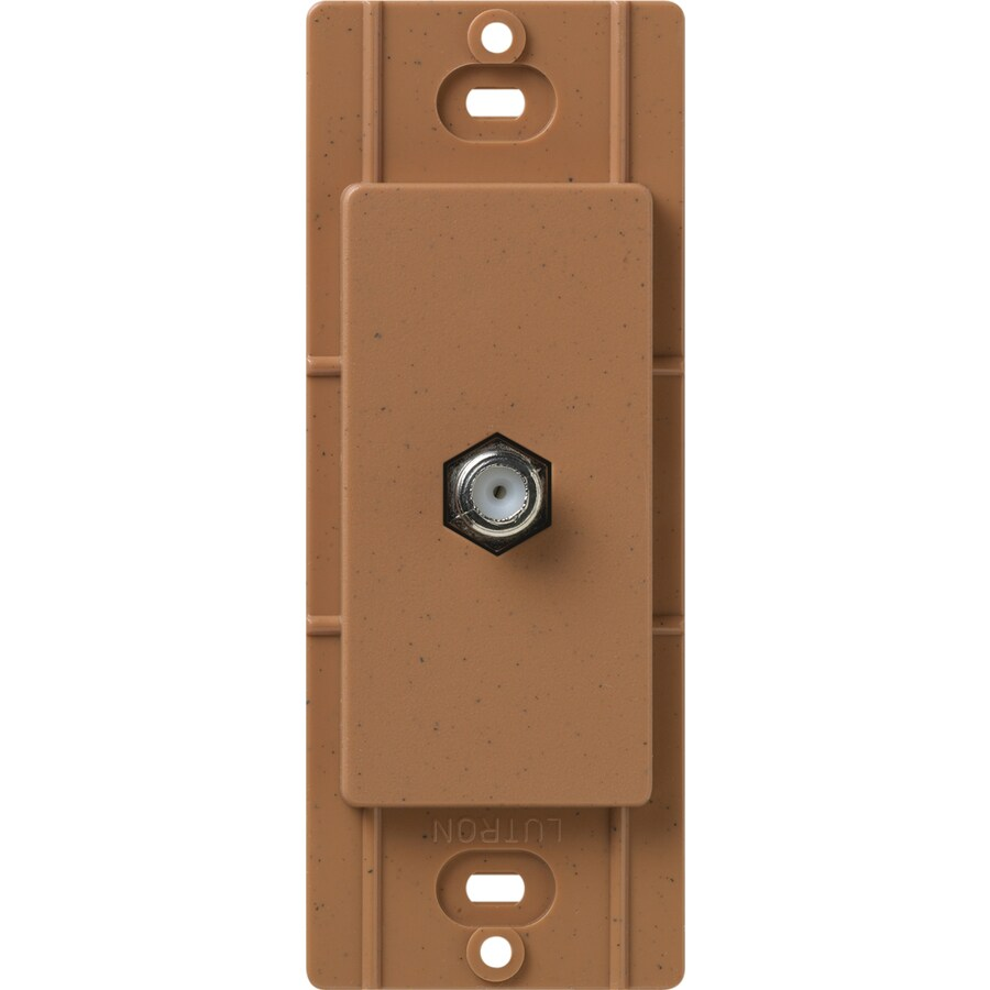 Lutron Claro Satin Color 1-Gang Terra Cotta Coaxial Wall Plate
