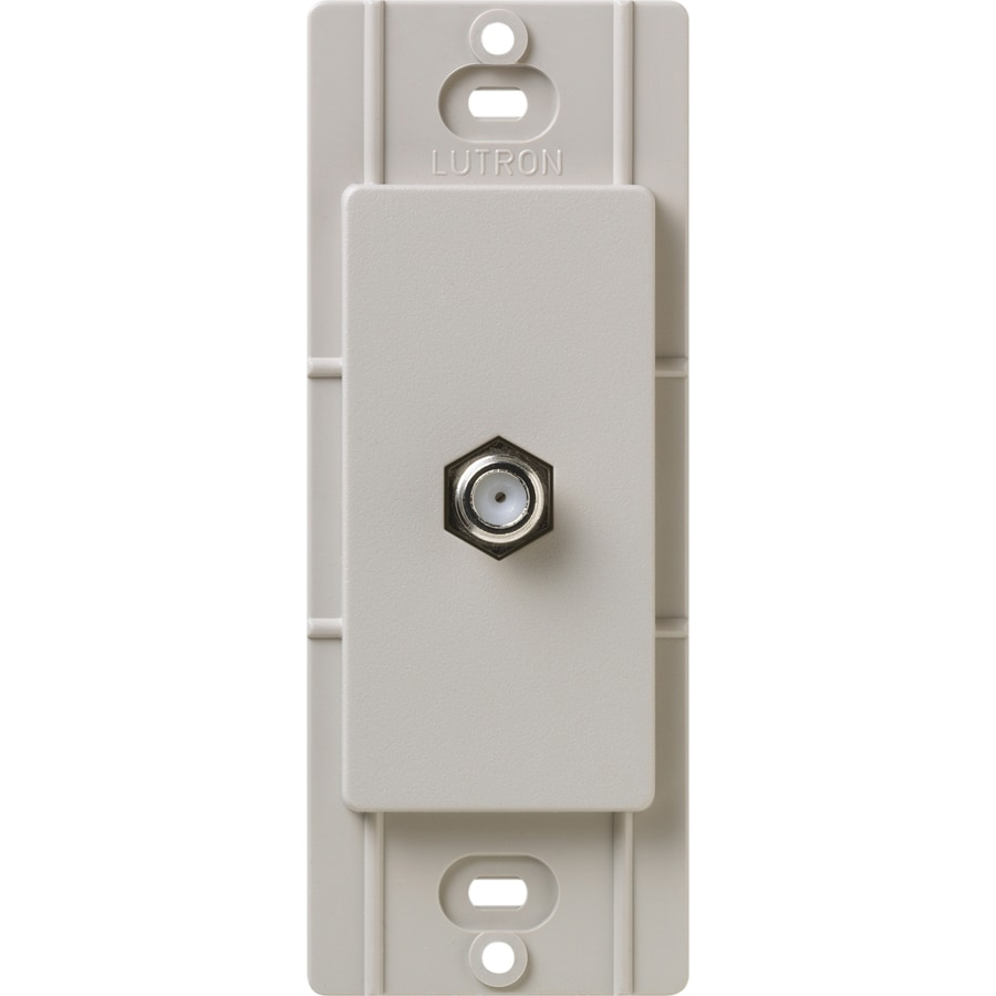 Shop lutron claro satin color 1 gang taupe coaxial wall plate at - Gang grijze taupe ...